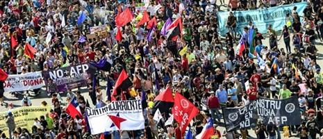 Chile no + AFP