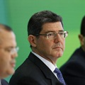 Levy attends a news conference in Brasilia
