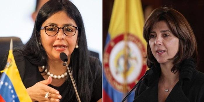 María Ángela Holguín y Delcy Rodríguez