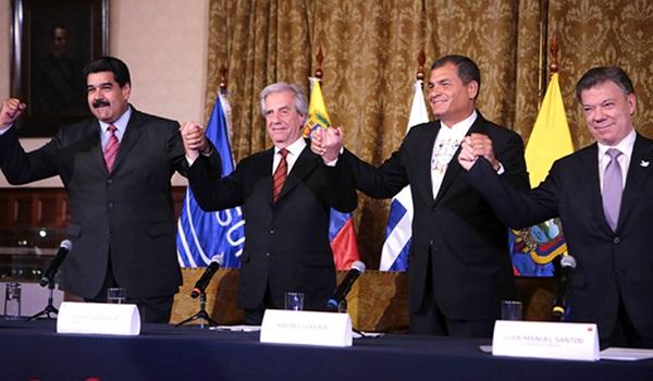 Maduro-Santos-presidentes-quito