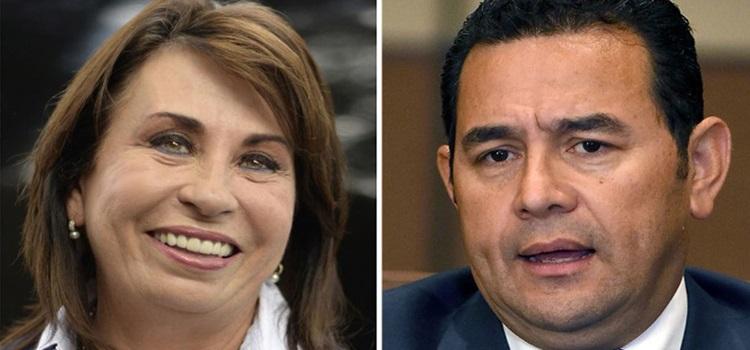 Sandra Torres y Jimmy Morales