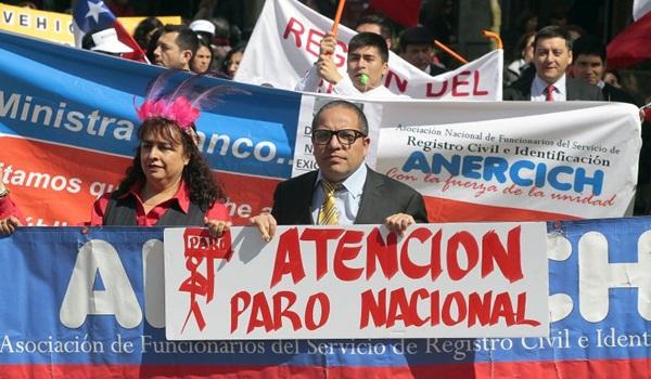 CONCEPCIÓN: Marcha de Funcionarios del Registro Civil de la Región del Bíobio.