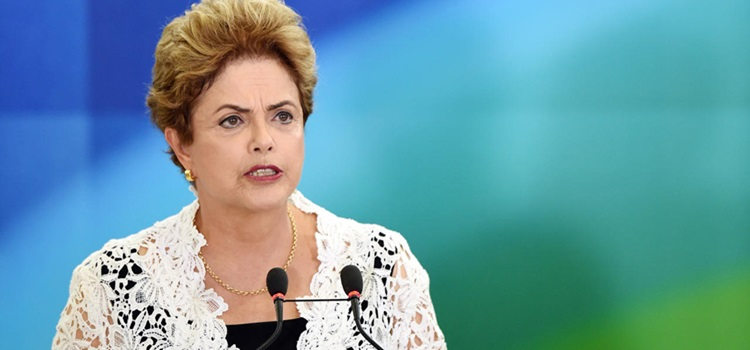 Brazilian President Dilma Rousseff speaks during a forum on citizen's rights in Planalto Palace in Brasilia