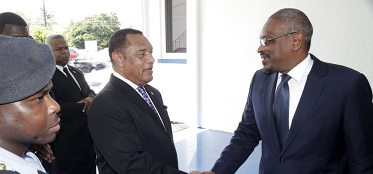 Prime Minister Christie and Opposition Leader Minnis