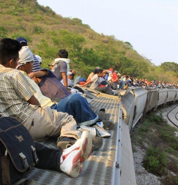 migrantes gde en tren