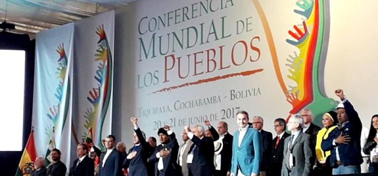 bolivia evo conferencia pueblos