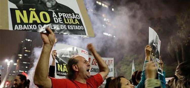 Brasil + protestas + No a la prisión de Lula da Silva