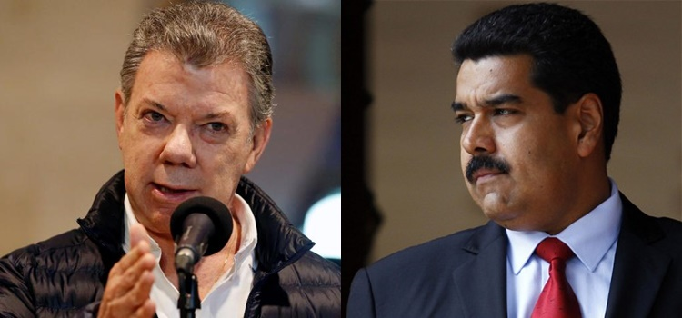 Juan Manuel Santos + Nicolás Maduro