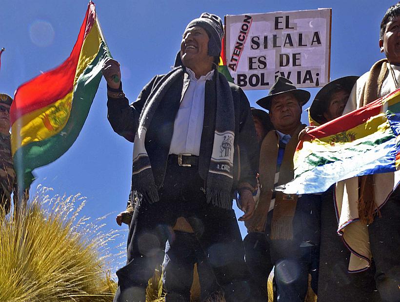 SILALA: Evo Morales visita el rio Silala en Bolivia