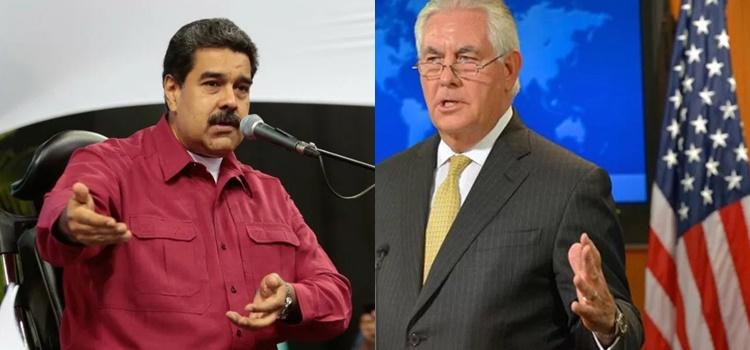 Nicolás Maduro (VEN)+ Rex Tillerson (EEUU)