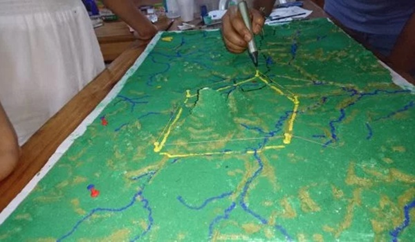 mapa 3d + nicaragua + territorios indigenas