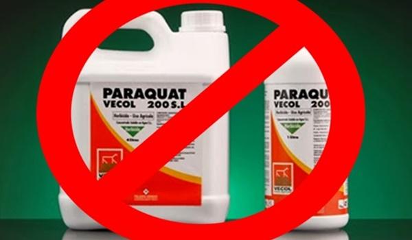 paraquat + prohibido