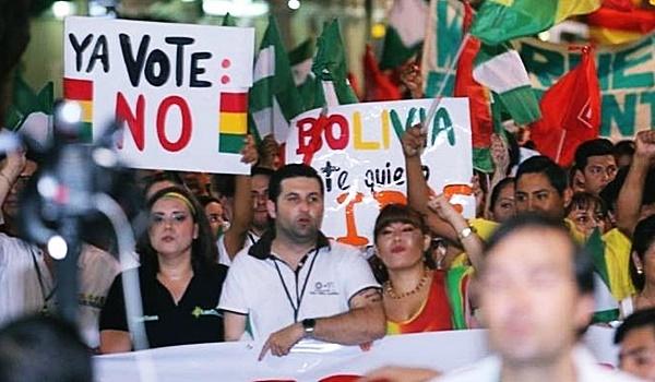 movilizaciones contra la reelección de evo morales-bolivia