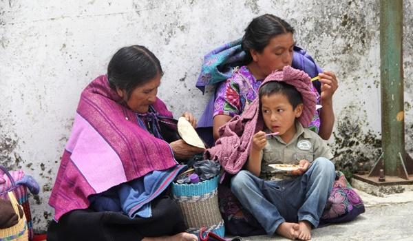 indígenas + pobreza alimentaria