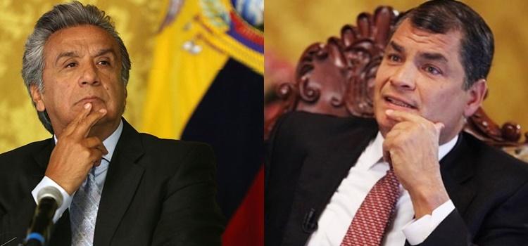 lenín moreno + rafael correa + ecuador
