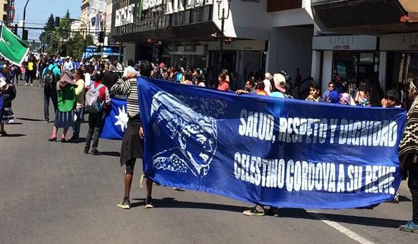 protesta + celestino córdova + chile