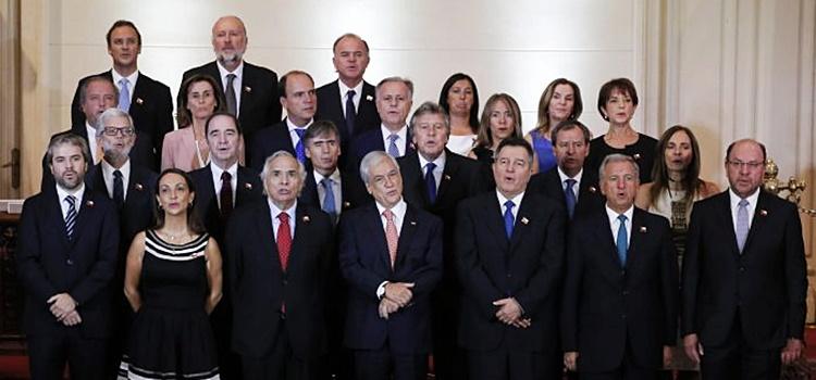 sebastián piñera + gabinete + chile