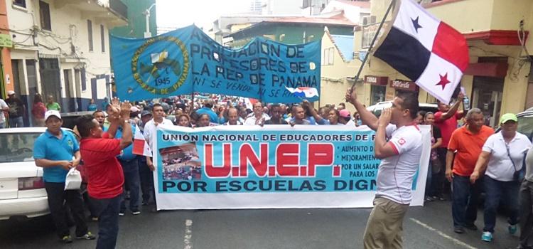 panamá + docentes + huelga