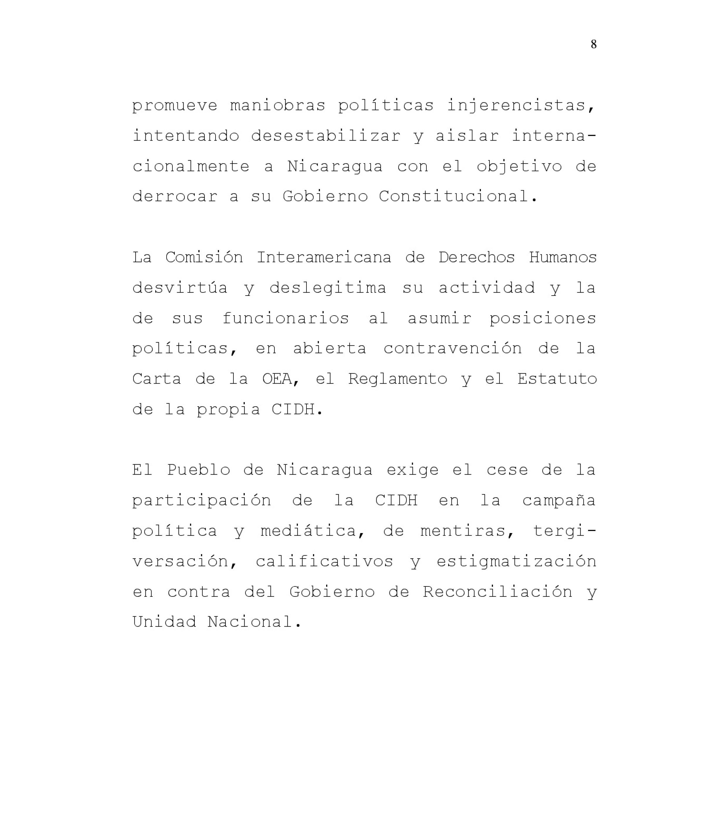 informe Nica CIDH-8