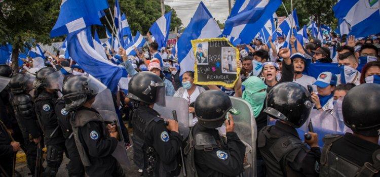marcha opositora Nicaragua