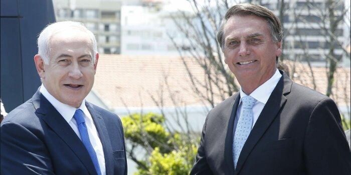 Bolsonaro Netanyahu Israel Brasil